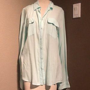 Aqua soft Guess blouse!